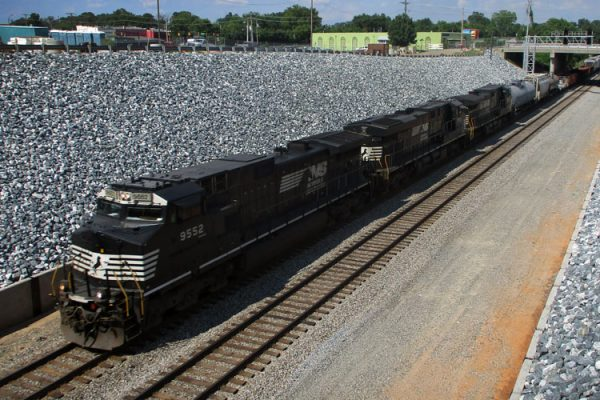 Completed railroad drainage and infrastructure improvements in High Point