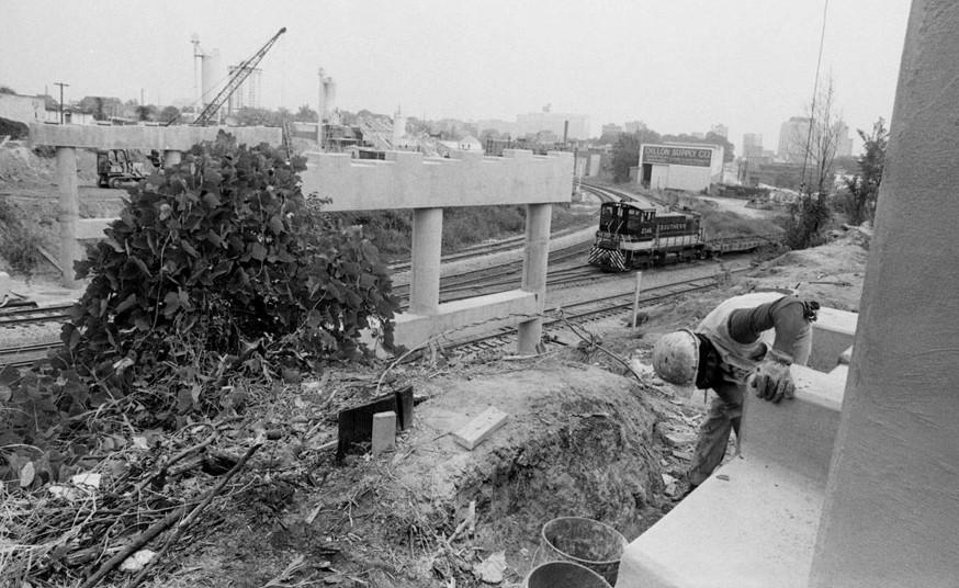 Boylan Avenue Bridge Construction, 1982