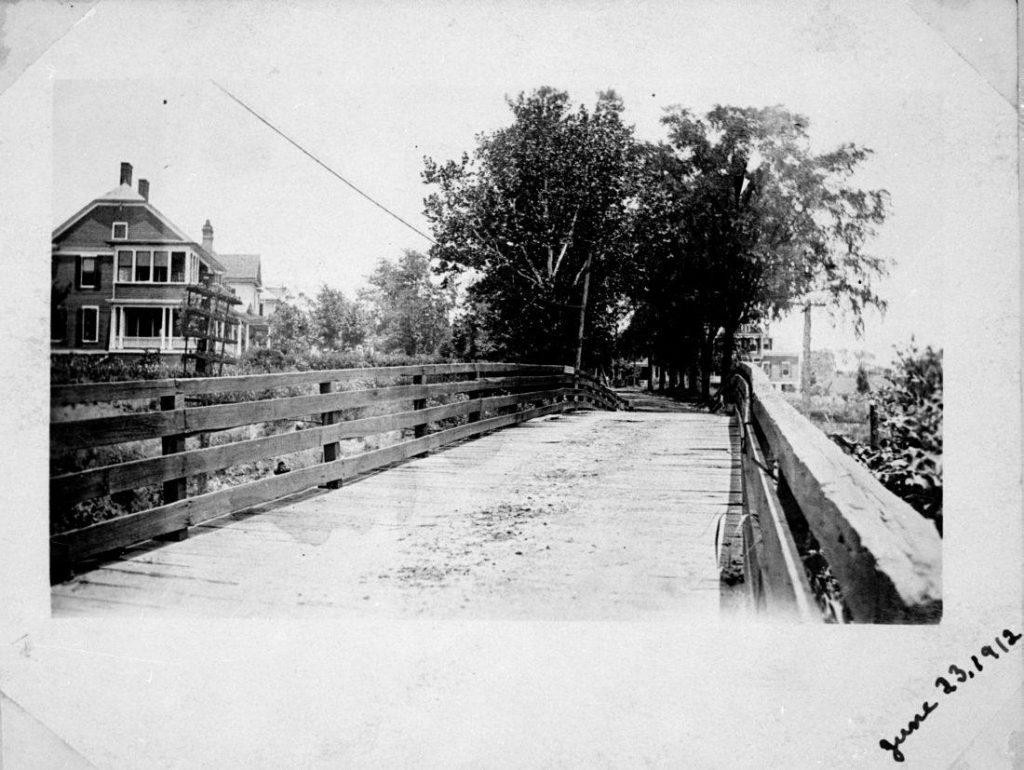 Wooden Boylan Avenue Bridge, 1912